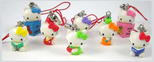 Girly Touch With Hello Kitty Phone Charm