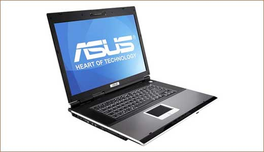 Asus Notebook Equipped with 300GB Fujitsu HDD
