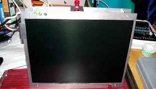 Hacking laptop screen
