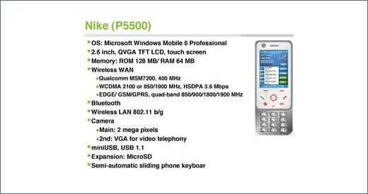 HTC Nike P5500