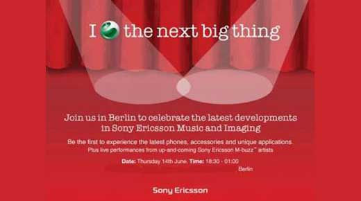 Sony Ericsson Invitation To Celebrate The Latest Products