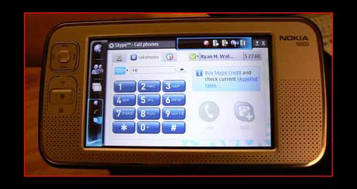 Skype on the Nokia N800