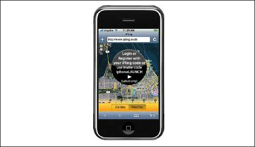 iPling Location-Based Social Networking For iPhone Users