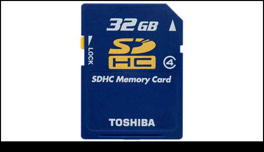 Toshiba 32GB SDHC is on The Way