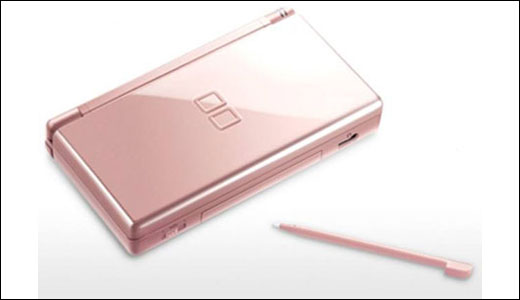 metallic pink nintendo ds