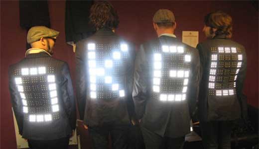 OK Go LEDs  costumes by Moritz Waldemeyer