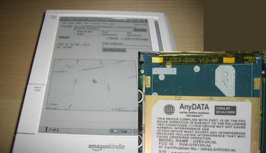 Amazon Kindle with GPS
