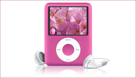 Available at Apple store, the new 8GB pink iPod nano costs at the same price