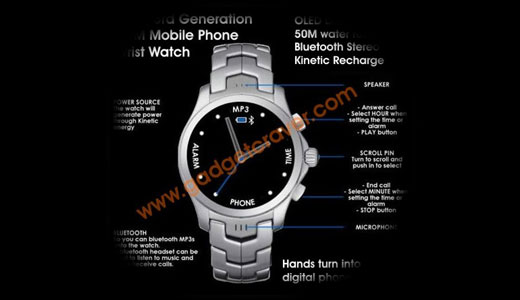 Analog GSM Wristwatch Phone Epoq EGP-WP88