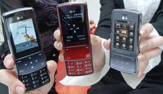lg kf510 mobile themes