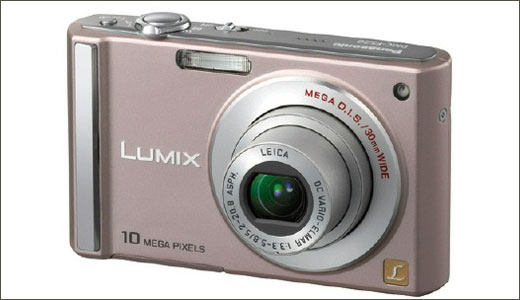 Pink Panasonic Lumix camera