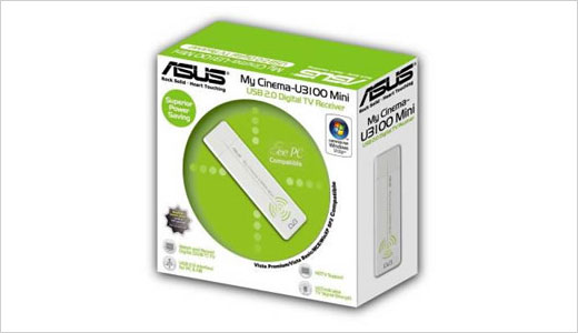 New Portable USB Digital TV Tuner:  Asus My Cinema-U3100Mini
