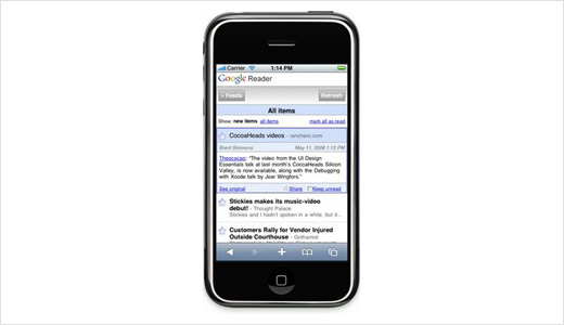 Google Reader on iPhone