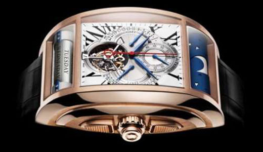 The Maitres Du Temps 'Chapter One' watch is not designed for average users, it's priced at $400,000, a price that most of people can't imagine. So what features that make it so expensive? here they are: tourbillion, a mono-pusher chronograph, retrograde date and Greenwich Mean Time, and idiosyncratic rolling bars. […]