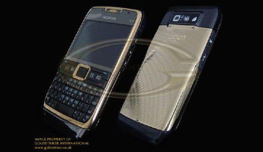 The QWERTY smartphone Nokia E71 getting golden, thank to Goldstriker who did an extra work by plating the existing phone with 24ct gold. They sell the gold edition phone for $1,100. This phone is one of the most affordable luxury phone available in the wild, what do you think? Read