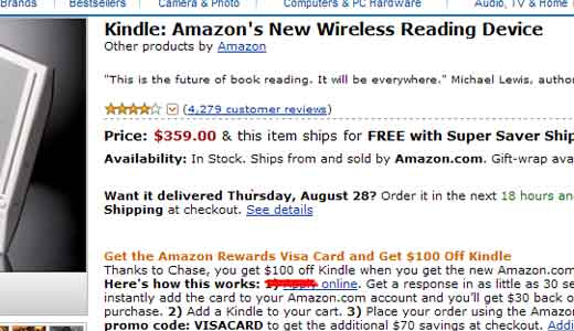 Amazon and Visa offers $100 off Kindle for whoever you are as long as you buy it with the Amazon Rewards Visa Card. This offer is limited time only so you need to act as quickly as possible, otherwise you will miss the opportunity he..he..he.. Don't ask why Amazon want […]