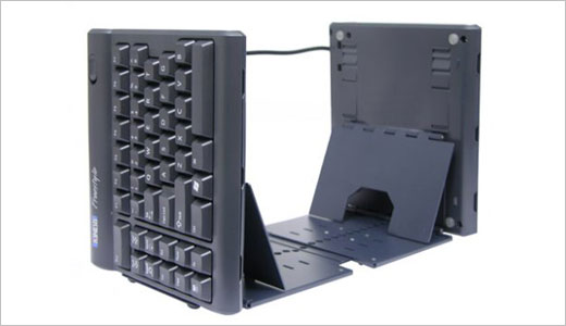 Coming with standard layout, the unique Solo Freestyle Convertible Keyboard constructed with two keying modules hooked up to one another via the flexible Pivot TetherT. But each module can be operated separately up to 8″. Made by Kinesis, this keyboard priced at $99. Read