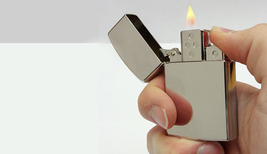 Available from ThinkGeek.com, this USB Flash Drive Lighter has 8GB capacity. I am not a smoker, but the device really took my attention. Coming with metal case and chrome finish, this refillable lighter has adjustable flame and USB connector of course.