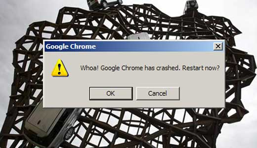 google chrome crash