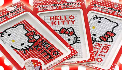 This Hello Kitty jewelry gem sticker is not made of Swarovski crystals but