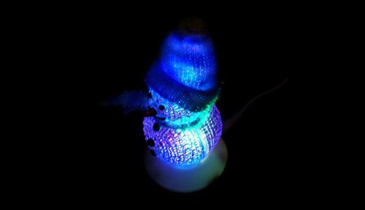 USB Powered LED Snowman (Blue)