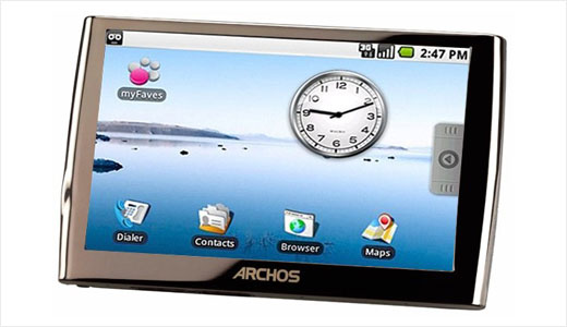 ARCHOS developing an android based internet media tablet with phone functionality. It's expected to be released in Q3 2009 but its prototype may be on action at MWC. This tablet configured with OMAP3440 processor, up to 500 GB of storage, and up to 7 hours of battery life. Featuring 5-inch […]