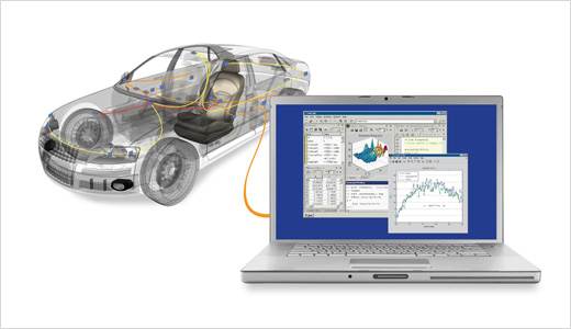 Priced at a mere $1000, the New Vehicle Network Toolbox from MathWorks offers more efficient workflow by enabling MATLAB to connect directly to a vehicle's Controller Area Network (CAN). It eliminates the need for additional connectivity tools and creating a powerful environment for streamlining test, verification, and analysis activities.