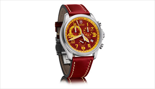 The Limited Edition of the Infantry Vintage chronograph will be produced only in 125 numbered pieces worldwide. This edition is manufactured to celebrate the the 125th anniversary of Victorinox in 2009. with a beautiful high-quality leather strap, this watch has large 44mm case and a unique Victorinox red with yellow […]