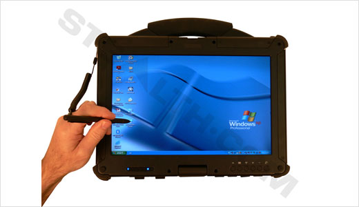 "Stealth released its new Hybrid Rugged Notebook/Tablet computer ""NW-2000"" which can easily transform from a rugged notebook PC into a rugged Tablet PC. Highlights: 13.3″ WXGA (1280 x 800) LCD screen, A built-in touch screen sensor, Intel Memrom ultra low voltage processor, Back-Lit 86-Key keyboard, a shock mounted removable hard […]"
