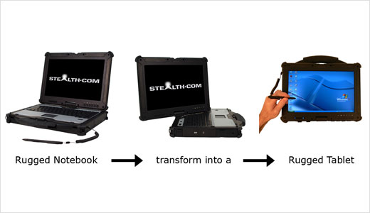 NW-2000 Hybrid Rugged Notebook Tablet Computer