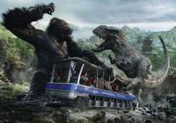 "Created by Peter Jackson, the 'King Kong 360 3-D' celebrated its premiere in Advance of July 1 opening. Mentioned as the world's largest most intense 3-D experience, the ""King Kong 360 3-D"" is the first theme park attraction to be directed by the three-time Oscar®-winning storyteller and filmmaker. Read"