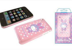 I don't now why it's called jakcet instead of case. Designed for iPhone 3G/3GS, the Hello Kitty jacket keeps all ports usable while your iPhone stays inside. Priced at a mere $38, the jacket will add some cuteness to your iPhone for sure. Read