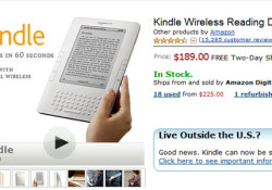 Amazon.com announced that Amazon Kindle is now only $189, down from $259. As a 3G wireless portable reader, the Kindle allows you to read books from wherever you happen to be. With no monthly fees or annual contracts, Kindle users can access over 600,000 books including 109 of 112 New […]