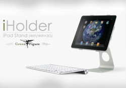 Pyramid introduces iHolder iPad Stand for iPad WiFi/WiFi+3G. The iHolder allows you to store and use your iPad safely and comfortably at home. After all, there are times when it's more convenient to have a desktop computer feel. Price: $50.