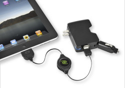 Emerge Technologies introduces the ReTrak 4-in-1 Charge & Sync for iPad and other mobile devices. The combo unit can charge in a car, a wall outlet or computer. Its two USB power ports allow users to simultaneously charge multiple devices, and the retractable USB 2.0 cable can be used separately […]