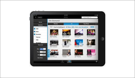 Xfinity TV App for the iPad and iPhone