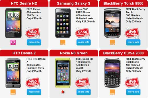 Free Christmas Gifts with Phone Deals