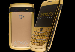 Amosu Couture introduces the new Blackberry Bold 9780 in an even more unique way. Obtain a BlackBerry 9780 completely plated in 24ct. mirror gold finish. Yes, completely in gold. This includes the BlackBerry keypad in Gold. You can get this baby for just £1250 or send them your existing handset […]