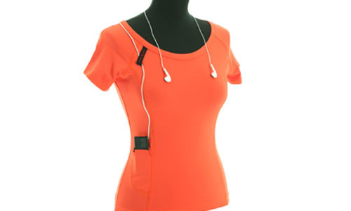 It is another t-shirt for your iPod. This trendy t-shirt has an elastic pocket to keep your iPod safely, but you can put another device without loosing your style. Image above show us clearly how the t-shirt make youreven more stylish. This iShirt is made from 84% polyamid / 16% […]