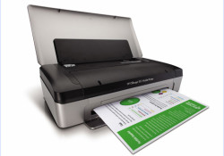 HP Officejet 100 Mobile Printer allows users to produce professional-quality documents in the office and on the go. This compact, durable device offers: A powerful, long-life lithium ion battery – print up to 500 pages when the battery is fully charged; Built-in Bluetooth wireless technology to print high-quality documents on […]