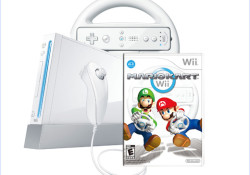 Starting May 15, you can take the new Wii Package at only $149.99. The newly priced Wii system will come in either black or white with the Mario Kart™ Wii game and a matching colored Wii Wheel™ accessory. With Mario Kart Wii now included with the Wii hardware, players will […]