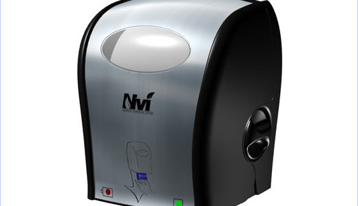 """Oasis Brands introduced its fully-enclosed, touchless Nvi® (pronounced """"en-vee"""") Electronic Tissue Dispenser. Mentioned as the industry's first standard-sized electronic tissue dispenser, the system is designed to reduce waste and labor cost while minimizing the risk of cross-contamination, and is ideal for those with limited range of mobility."""