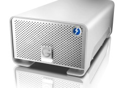Designed for professional auido/video (A/V) market, the G-Technology's 8TB G-RAID with Thunderbolt Drive utilizing two 4TB, 7200 RPM Deskstar™ hard drives in RAID 0 mode and two Thunderbolt ports that enable user to pair the device with up to six Thunderbolt peripherals such as additional G-RAID drives, a high-resolution display […]
