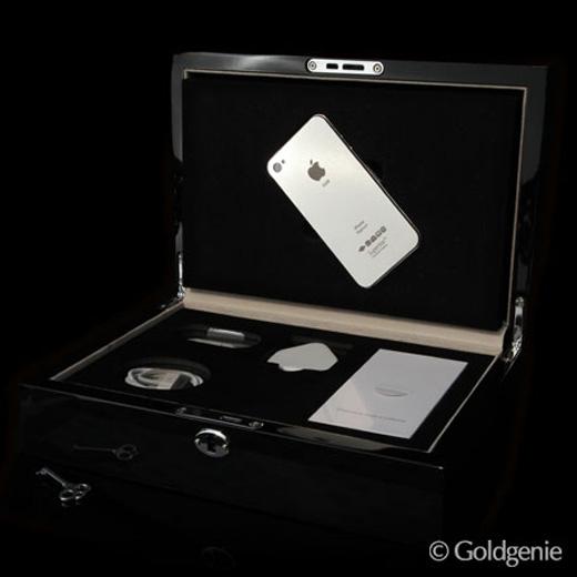Superstar iPhone 4S 64GB Platinum with Diamond Rim