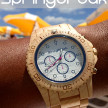 Trendy Wood Watch – The White Party